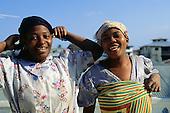 Zanzibar, Tanzania. Two laughing Zanzibari women.