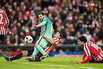 Lionel Andres Messi of FC Barcelona competes for the ball with Mikel San Jose Dominguez of Athletic Club during their Copa del Rey Round of 16 first leg match between Athletic Club and FC Barcelona at San Mames Stadium on 05 January 2017 in Bilbao, Spain. Photo by Victor Fraile / Power Sport Images