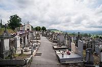peloton graveyard procession<br /> <br /> Stage 7: Saint-Genix-les-Villages to Pipay  (133km)<br /> 71st Critérium du Dauphiné 2019 (2.UWT)<br /> <br /> ©kramon