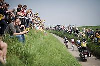 the breakaway group cheered on<br /> <br /> 103rd Ronde van Vlaanderen 2019<br /> One day race from Antwerp to Oudenaarde (BEL/270km)<br /> <br /> ©kramon