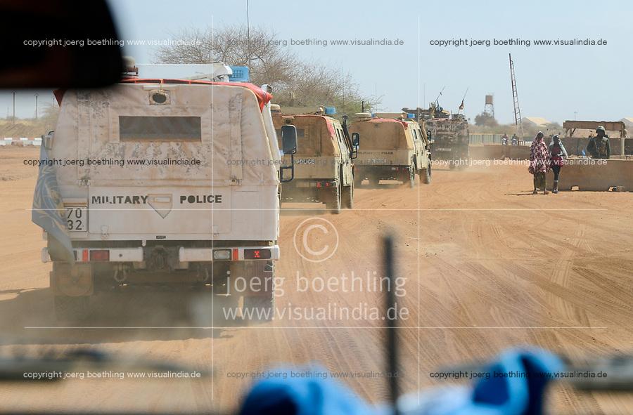 MALI, Gao, Minusma UN peace keeping mission, Camp Castor, german army Bundeswehr, patrol , malian army FaMA check post