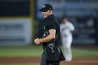 Home plate umpire Emil Jimenez during the game between the Altoona Curve and the Somerset Patriots at TD Bank Ballpark on July 24, 2021, in Somerset NJ. (Brian Westerholt/Four Seam Images)