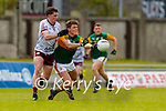 Gavin White, Kerry in action against Cathal Sweeney, Galway during the Allianz Football League Division 1 South Round 1 match between Kerry and Galway at Austin Stack Park in Tralee.