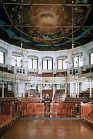 Sir Christopher Wren: Sheldonian Theatre, Oxford 1666. Interior. Ref. only.
