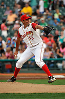 Brooklyn Cyclones pitcher Randy Fontanez (12) during game against the Connecticut Tigers at MCU Park on July 28, 2011 in Brooklyn, NY.  Brooklyn defeated Connecticut 2-1.  Tomasso DeRosa/Four Seam Images