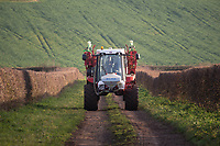 23.11.2020 Sprayer travel up a farm track<br /> ©Tim Scrivener Photographer 07850 303986<br />      ....Covering Agriculture In The UK....
