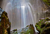 Spring waterfall at Cataract Falls, Mt Tamalpias State Park, California