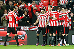 Athletic de Bilbao's Xabier Etxeita, Ander Iturraspe, Mikel Balenziaga, Enric Saborit,  Inaki Williams, Aritz Aduriz and Mikel San Jose celebrate goal during Spanish Kings Cup match. January 05,2017. (ALTERPHOTOS/Acero)