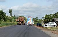 IVORY COAST, deforestation and timber trade to China / ELFENBEINKUESTE, Abholzung und Holzhandel nach China