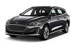 2019 Ford Focus-Clipper Vignale 5 Door Wagon Angular Front automotive stock photos of front three quarter view