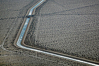 aerial photograph of Colorado Aqueduct, Mojave Desert, Riverside County, California