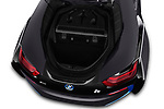 Car stock 2019 BMW i8 Base 2 Door Convertible engine high angle detail view