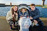 Enjoying a stroll in the Tralee Bay Wetlands on Sunday l to r: Leanne Hanafin, baby Cayden Hanafin Foran and Tadgh Foran.