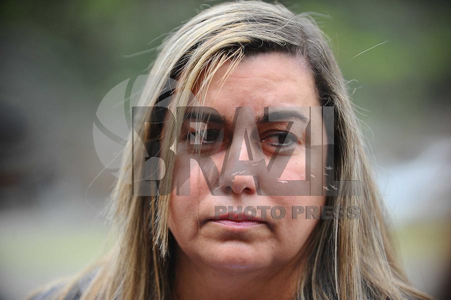 SAO PAULO, SP, 24.09.2013 -Caso Friboi-  Giselma Carmen Campos, acusada de mandar matar o ex-marido em 2008 chega noFórum da Barra Funda, em São Paulo. – zona oeste.. (Foto: Adriano Lima / Brazil Photo Press)