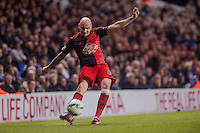 LONDON, ENGLAND - MARCH 04: Jonjo Shelvey of Swansea City in action during the Premier League match between Tottenham Hotspur and Swansea City at White Hart Lane on March 4, 2015 in London, England.  (Photo by Athena Pictures )