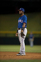 AZL Rangers first baseman Stanley Martinez (29) during an Arizona League game against the AZL Cubs 2 at Sloan Park on July 7, 2018 in Mesa, Arizona. AZL Rangers defeated AZL Cubs 2 11-2. (Zachary Lucy/Four Seam Images)