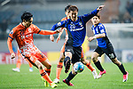 Jeju United Defender Cho Yonghyung (L) fights for the ball with Gamba Osaka Forward Nagasawa Shun (R) during the AFC Champions League 2017 Group H match Between Jeju United FC (KOR) vs Gamba Osaka (JPN) at the Jeju World Cup Stadium on 09 May 2017 in Jeju, South Korea. Photo by Marcio Rodrigo Machado / Power Sport Images
