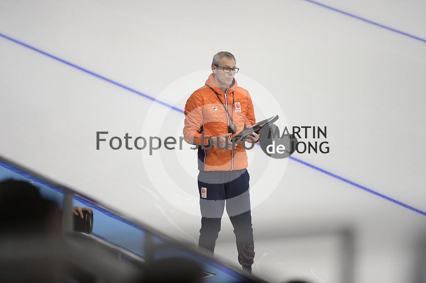 OLYMPIC GAMES: PYEONGCHANG: 21-02-2018, Gangneung Oval, Long Track, Team Pursuit, Team Netherlands, Arie Koops (assistent coach), ©photo Martin de Jong