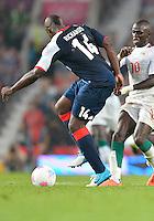 July 26, 2012..Britain's Micah Richards (14) and Senegal's Sadio Mane (10). Great Britain vs Senegal Football match during 2012 Olympic Games at Old Trafford in Manchester, England. Senegal held Great Britain to a 1-1 draw...(Credit Image: © Mo Khursheed/TFV Media)