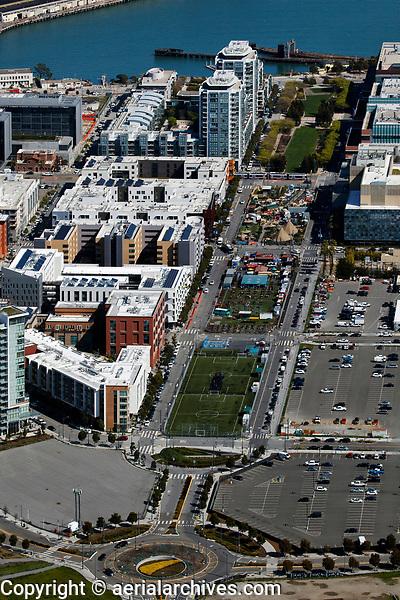 aerial photograph of Parklab Community Center, Parklab Gardens, Mission Bay, San Francisco, California