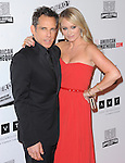 Ben Stiller and Christine Taylor Stiller attends American Cinematheque's 2012 Award Show honoring Ben Stiller held at The Beverly Hilton in Beverly Hills, California on November 15,2012                                                                               © 2012 DVS / Hollywood Press Agency