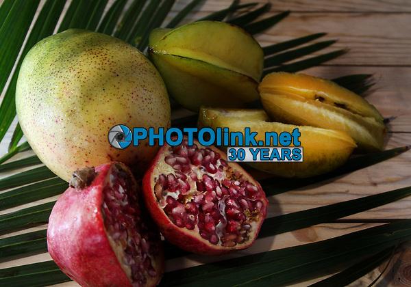 Pomegraite Mango Star Fruit<br /> Photo By Adam Scull/PHOTOlink.net