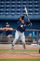 Montgomery Biscuits Tristan Gray (6) at bat during a Southern League game against the Biloxi Shuckers on May 8, 2019 at MGM Park in Biloxi, Mississippi.  Biloxi defeated Montgomery 4-2.  (Mike Janes/Four Seam Images)