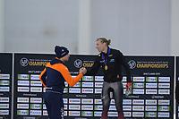 SPEEDSKATING: 13-02-2020, Utah Olympic Oval, ISU World Single Distances Speed Skating Championship, Podium 5000m Men, Sven Kramer (NED), Ted-Jan Bloemen (CAN), ©Martin de Jong