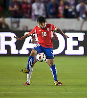 CARSON, CA – JANUARY 22: Chile forward Edson Puch (18) during the international friendly match between USA and Chile at the Home Depot Center, January 22, 2011 in Carson, California. Final score USA 1, Chile 1.