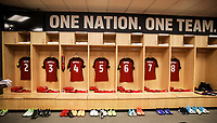 Commerce City, CO - Thursday June 08, 2017: The USMNT locker room during their 2018 FIFA World Cup Qualifying Final Round match versus Trinidad & Tobago at Dick's Sporting Goods Park.