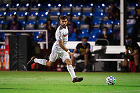 LAKE BUENA VISTA, FL - JULY 27: Diego Rossi #9 of LAFC dribbles the ball during a game between Seattle Sounders FC and Los Angeles FC at ESPN Wide World of Sports on July 27, 2020 in Lake Buena Vista, Florida.