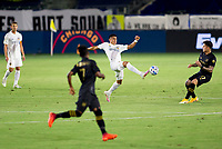 CARSON, CA - SEPTEMBER 06: Joe Corona #15 of the Los Angeles Galaxy moves to the ball during a game between Los Angeles FC and Los Angeles Galaxy at Dignity Health Sports Park on September 06, 2020 in Carson, California.