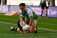 Janna Michal Vaughan of the Manawatu scores a try during the Farah Palmer Cup Rugby – Wellington v Manawatu at Sky Stadium, Wellington, New Zealand on Friday 25 September 2020. <br /> Photo by Masanori Udagawa. <br /> www.photowellington.photoshelter.com
