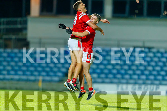 David Clifford, East Kerry celebrates with Chris O'Donoghue, East Kerry after the Kerry County Senior Football Championship Final match between East Kerry and Mid Kerry at Austin Stack Park in Tralee on Saturday night.