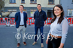 Cousins Gráinne and Mike Ryle and their business partner, Bryan Daly, who are opening a new pharmacy at 35 Ashe Street, Tralee. Front right: Gráinne Ryle. Back l to r: Mike Ryle and Bryan Daly.