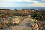 Fall view from the Summit of Cadillac Mountain, Acadia National Park, Maine, USA