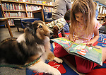Carson City kids participate in the Carson Library Love on a Leash program Saturday, Feb. 5, 2011 in Carson City, Nev. The program, started about 1-1/2 years ago, allows young readers to read to therapy dogs..Photo by Cathleen Allison