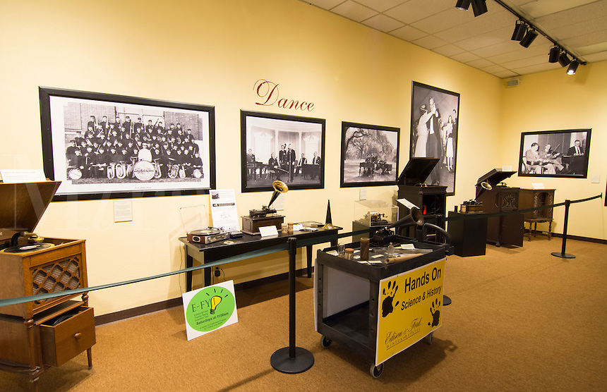 Thomas Edison inventor home and museum in Ft Myers Florida inventions room phonograph and sound inventions