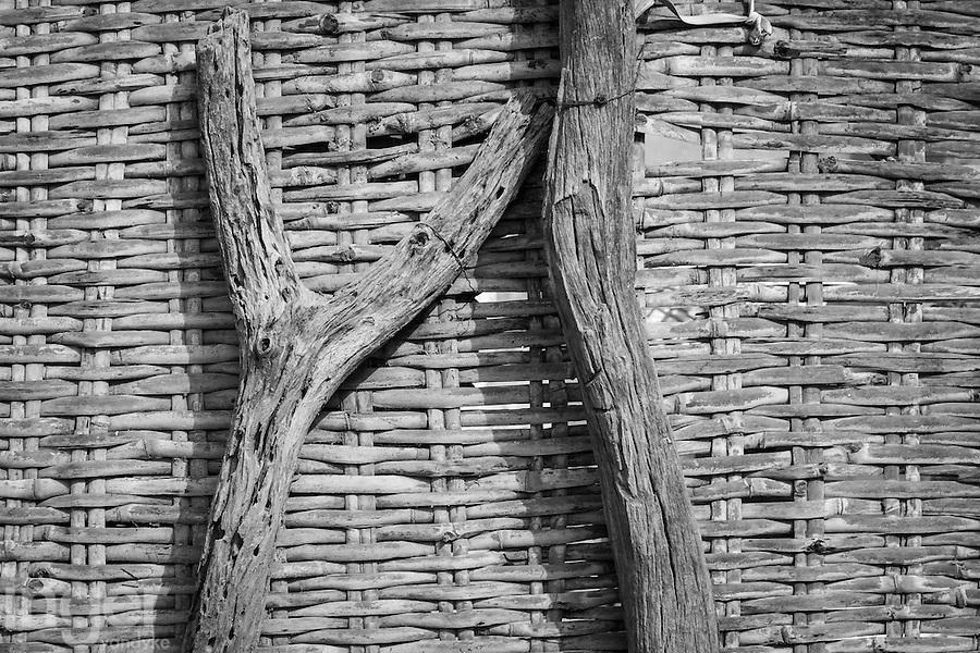 Hut detail near Podor, northern Senegal