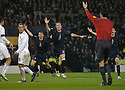 17/11/2007      Copyright Pic: James Stewart.File Name : sct_jspa01_scotland_v_italy.LEE MCCULLOCH AND DAVID WEIR CLAIM FOR A PENALTY EARLY IN THE FIRST HALF....James Stewart Photo Agency 19 Carronlea Drive, Falkirk. FK2 8DN      Vat Reg No. 607 6932 25.Office     : +44 (0)1324 570906     .Mobile   : +44 (0)7721 416997.Fax         : +44 (0)1324 570906.E-mail  :  jim@jspa.co.uk.If you require further information then contact Jim Stewart on any of the numbers above........