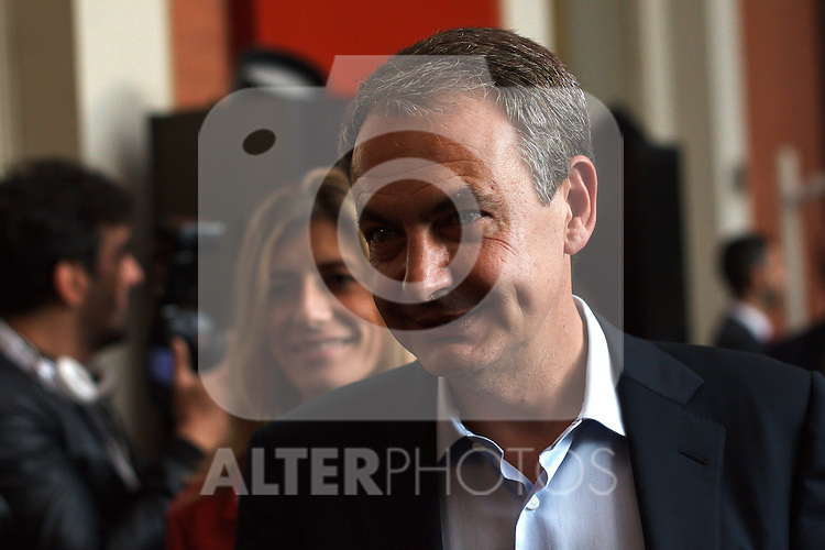 """Madrid,Spain - 16 10 2014- """"politics""""-Former Spanish socialist leader Jose Luis Rodriguez Zapatero upon his arrival at the act for the 40th anniversary of the Suresnes congress (Foto: Guillermo Martinez /Bouza Press)"""