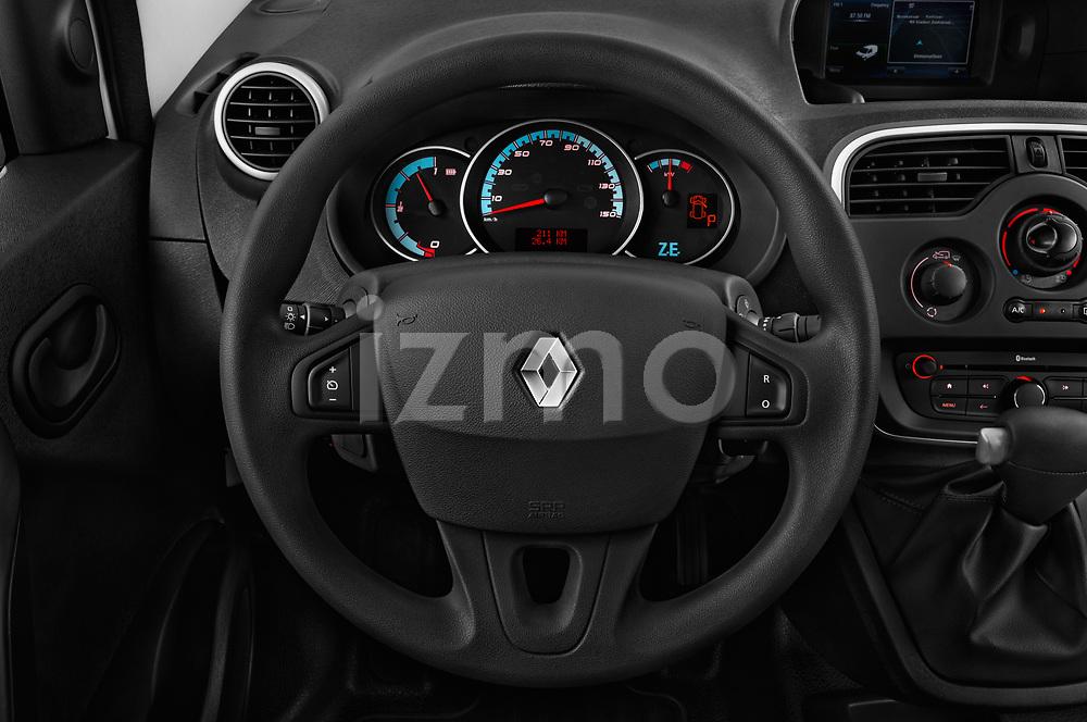 Car pictures of steering wheel view of a 2018 Renault Kangoo ZE Maxi ZE 2 places 4 Door Car van