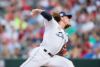 International League All-Star pitcher Mike Clevinger (39) of the Columbus Clippers in action against the Pacific Coast League All-Stars at the 29th Annual Triple-A All-Star Game at BB&T BallPark on July 13, 2016 in Charlotte, North Carolina.  The International League defeated the Pacific Coast League 4-2.   (Brian Westerholt/Four Seam Images)