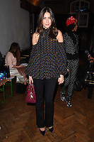 Lisa Snowdon<br /> at the PPQ AW17 show as part of London Fashion Week AW17 at 180 Strand, London.<br /> <br /> <br /> ©Ash Knotek  D3230  17/02/2017