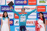 Kristijan Durasek (CRO) Lampre-Merida retains the Leaders Turquoise Jersey at the end of Stage 6 of the 2015 Presidential Tour of Turkey running 184km from Denizli to Selcuk. 30th April 2015.<br /> Photo: Tour of Turkey/Mario Stiehl/www.newsfile.ie