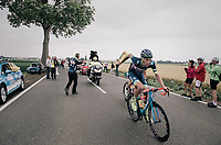Yoann Offredo (FRA/Wanty-Groupe Gobert) coming through the feedzone<br /> <br /> 104th Tour de France 2017<br /> Stage 2 - Düsseldorf › Liège (203.5km)