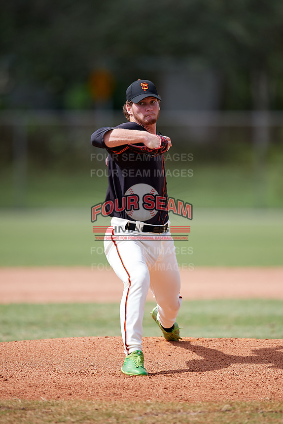 Jonathan Gates (72) while playing for FTB/SF Giants Scout Team based out of Kissimmee, Florida during the WWBA World Championship at the Roger Dean Complex on October 21, 2017 in Jupiter, Florida.  Jonathan Gates is a pitcher / first baseman from Brooksville, Florida who attends Nature Coast Technical High School.  (Mike Janes/Four Seam Images)