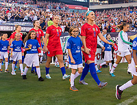 PHILADELPHIA, PA - AUGUST 29: Julie Ertz #8 of the United States enters the field prior to a game between Portugal and the USWNT at Lincoln Financial Field on August 29, 2019 in Philadelphia, PA.