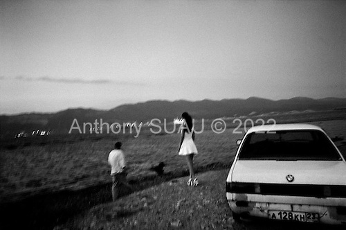 Novorossisk, Russia  .1998.Evening on the beach..