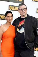 LOS ANGELES - AUG 25:  Gita Pullapilly, Aron Gaudet at the Queenpins Photocall at the Four Seasons Hotel Los Angeles on August 25, 2021 in Los Angeles, CA
